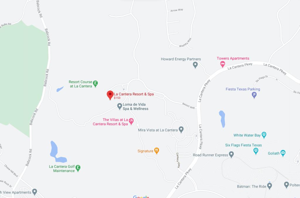 La Cantera Resort Direction Map